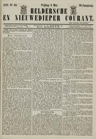 Heldersche en Nieuwedieper Courant 1870-05-06
