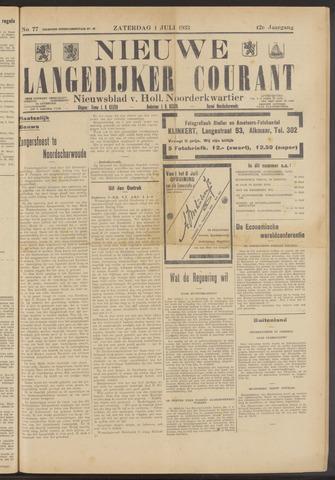 Nieuwe Langedijker Courant 1933-07-01