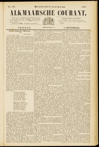 Alkmaarsche Courant 1898-09-09