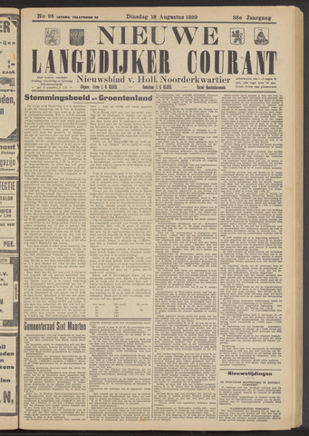 Nieuwe Langedijker Courant 1929-08-13