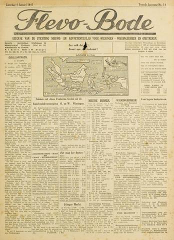 Flevo-bode: nieuwsblad voor Wieringen-Wieringermeer 1947-01-04