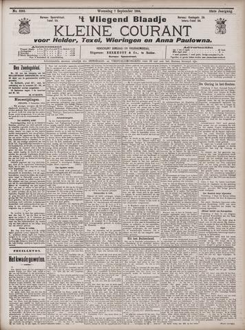 Vliegend blaadje : nieuws- en advertentiebode voor Den Helder 1904-09-07