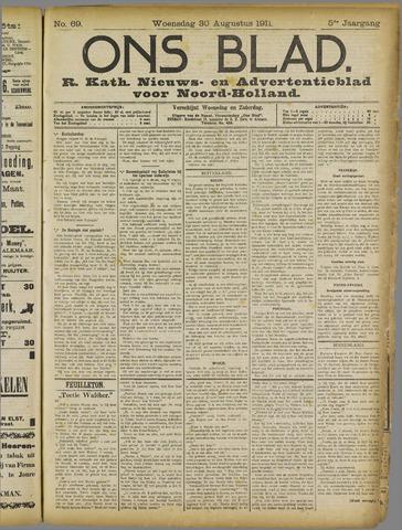 Ons Blad : katholiek nieuwsblad voor N-H 1911-08-30