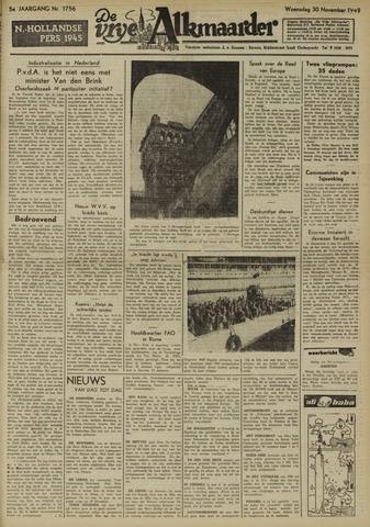 De Vrije Alkmaarder 1949-11-30