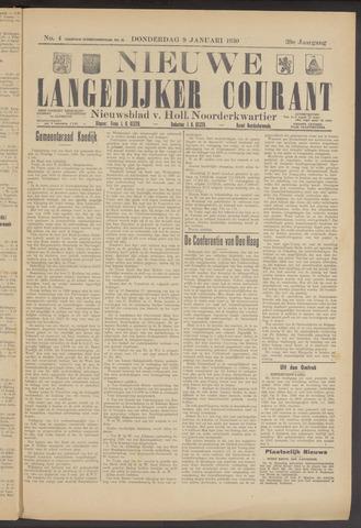 Nieuwe Langedijker Courant 1930-01-09