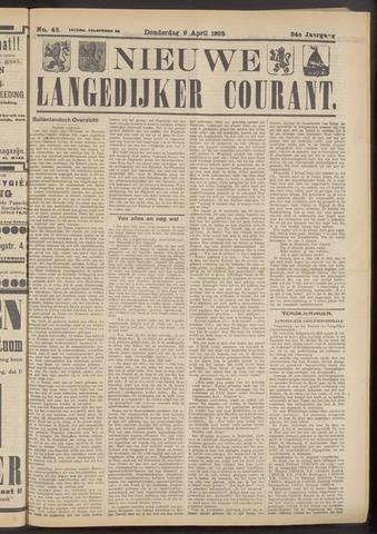 Nieuwe Langedijker Courant 1925-04-09