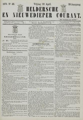 Heldersche en Nieuwedieper Courant 1870-04-22