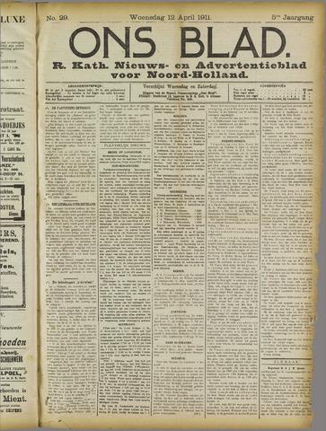 Ons Blad : katholiek nieuwsblad voor N-H 1911-04-12