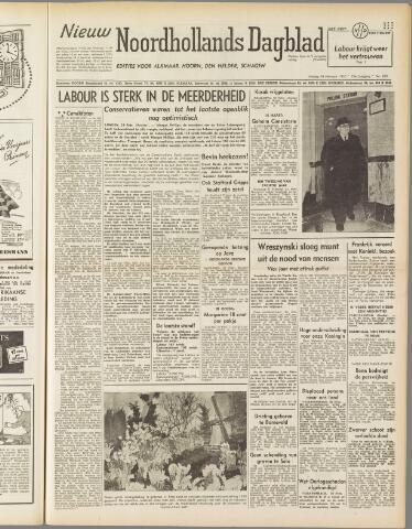 Nieuw Noordhollandsch Dagblad : voor Alkmaar en omgeving 1950-02-24