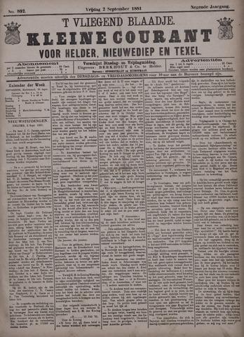 Vliegend blaadje : nieuws- en advertentiebode voor Den Helder 1881-09-02
