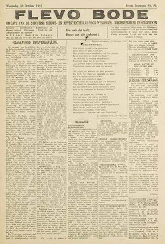 Flevo-bode: nieuwsblad voor Wieringen-Wieringermeer 1946-10-30