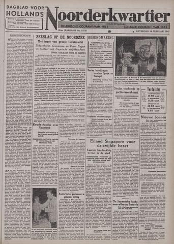 Dagblad voor Hollands Noorderkwartier 1942-02-14