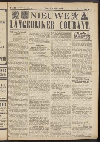 Nieuwe Langedijker Courant 1925-04-07