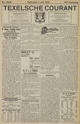 Texelsche Courant 1931-07-11