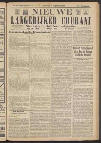 Nieuwe Langedijker Courant 1929-08-06