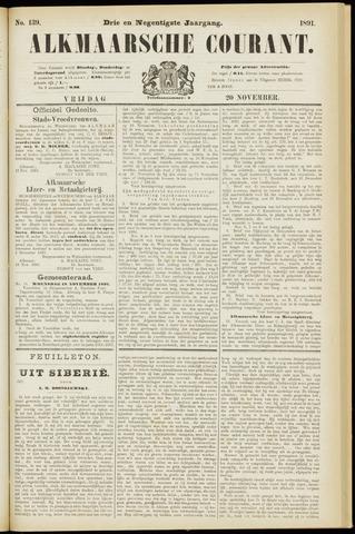 Alkmaarsche Courant 1891-11-20