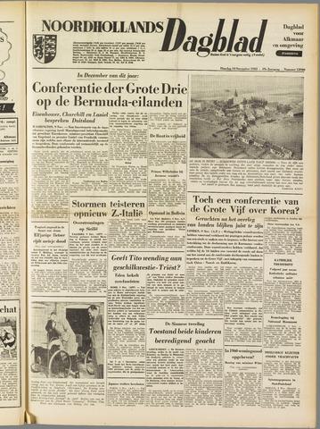Noordhollands Dagblad : dagblad voor Alkmaar en omgeving 1953-11-10