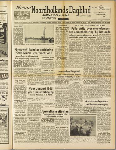 Nieuw Noordhollandsch Dagblad : voor Alkmaar en omgeving 1952-05-09