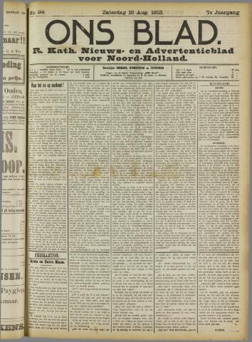 Ons Blad : katholiek nieuwsblad voor N-H 1913-08-16