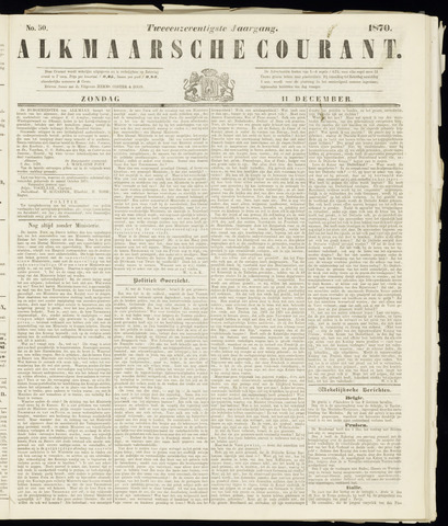 Alkmaarsche Courant 1870-12-11