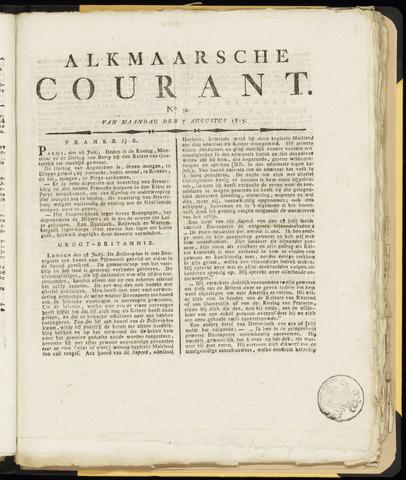 Alkmaarsche Courant 1815-08-07