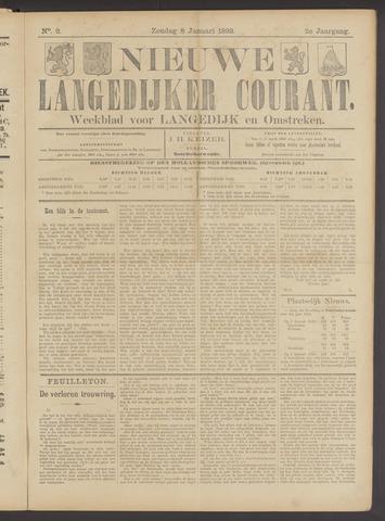 Nieuwe Langedijker Courant 1893-01-08