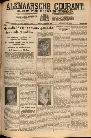 Alkmaarsche Courant 1939-09-25