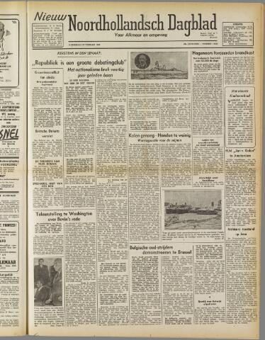 Nieuw Noordhollandsch Dagblad : voor Alkmaar en omgeving 1947-02-27