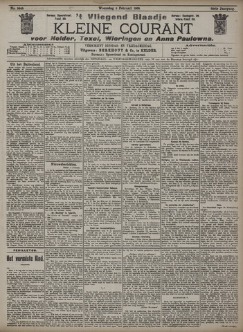 Vliegend blaadje : nieuws- en advertentiebode voor Den Helder 1908-02-05
