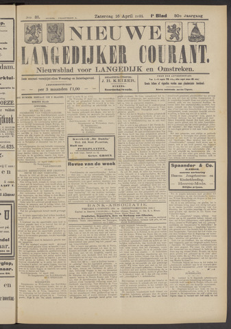 Nieuwe Langedijker Courant 1921-04-16