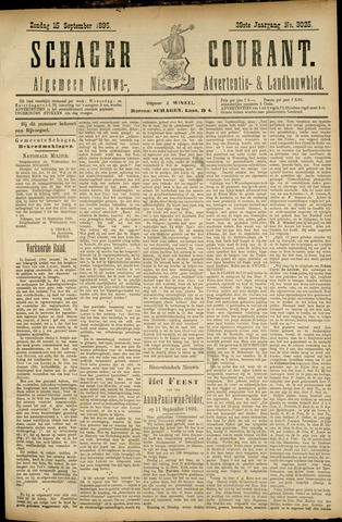 Schager Courant 1895-09-15