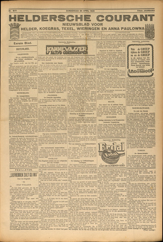 Heldersche Courant 1926-04-22