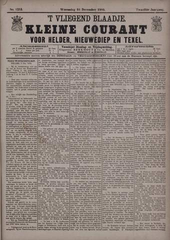 Vliegend blaadje : nieuws- en advertentiebode voor Den Helder 1884-12-10