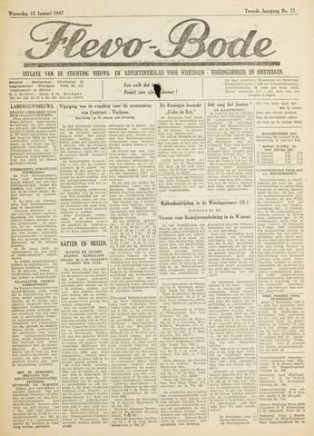 Flevo-bode: nieuwsblad voor Wieringen-Wieringermeer 1947-01-15