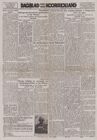 Dagblad Noord-Holland, Schager editie 1944-08-11
