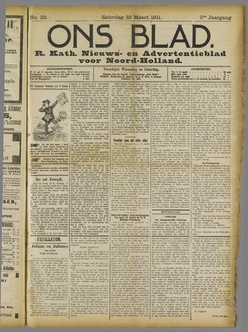 Ons Blad : katholiek nieuwsblad voor N-H 1911-03-18