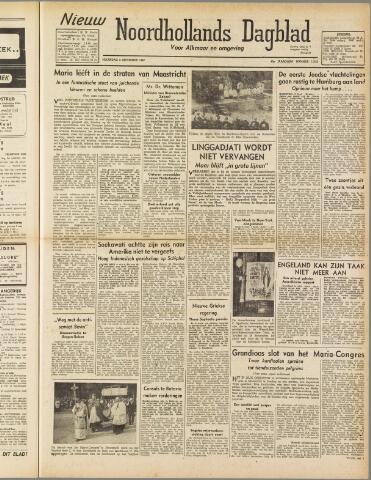 Nieuw Noordhollandsch Dagblad : voor Alkmaar en omgeving 1947-09-08