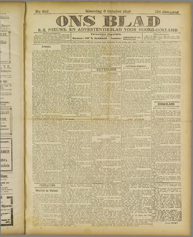 Ons Blad : katholiek nieuwsblad voor N-H 1919-10-06