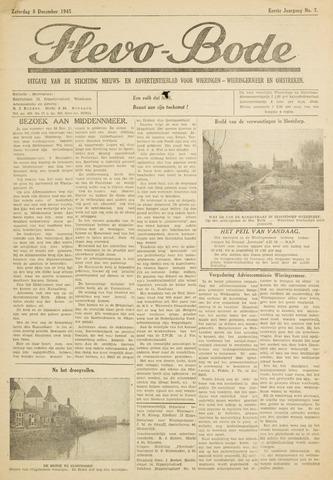 Flevo-bode: nieuwsblad voor Wieringen-Wieringermeer 1945-12-08