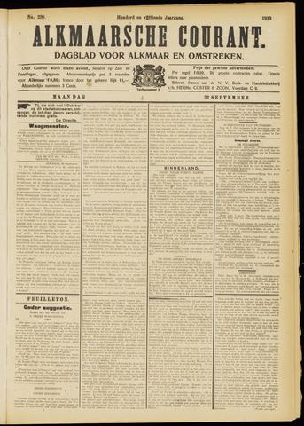 Alkmaarsche Courant 1913-09-22