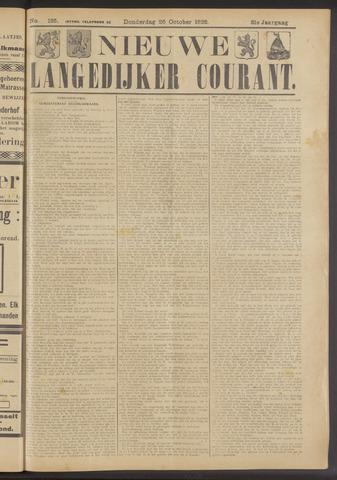 Nieuwe Langedijker Courant 1922-10-26