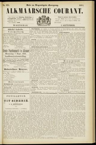 Alkmaarsche Courant 1891-09-02
