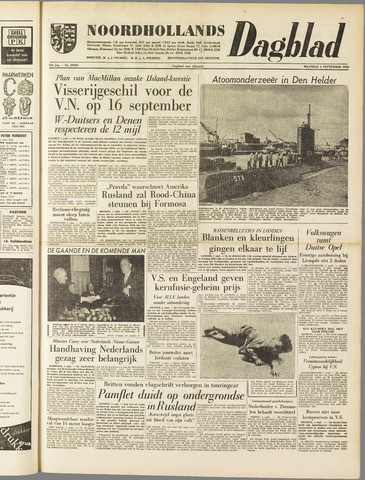Noordhollands Dagblad : dagblad voor Alkmaar en omgeving 1958-09-01