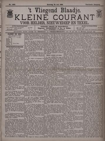 Vliegend blaadje : nieuws- en advertentiebode voor Den Helder 1886-07-24