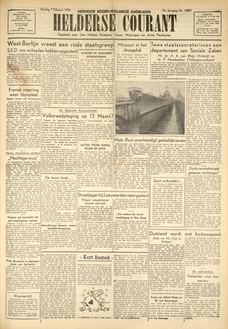 Heldersche Courant 1950-02-07