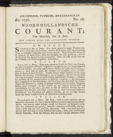 Noordhollandsche Courant 1798-07-09