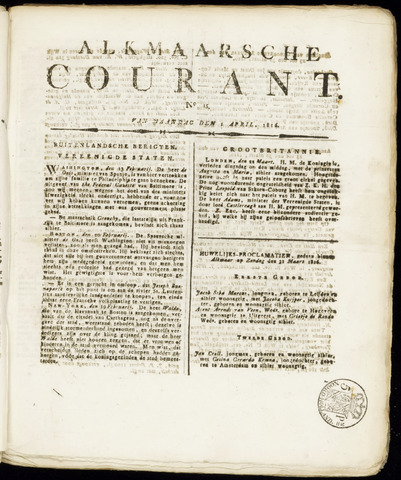 Alkmaarsche Courant 1816-04-01