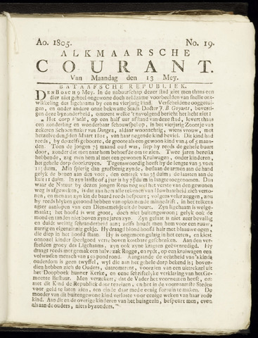 Alkmaarsche Courant 1805-05-13