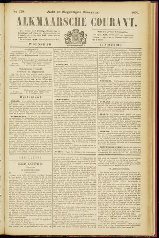 Alkmaarsche Courant 1896-11-11