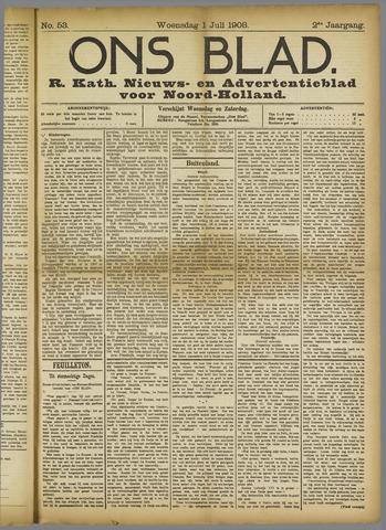 Ons Blad : katholiek nieuwsblad voor N-H 1908-07-01